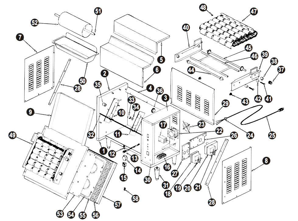 [SCHEMATICS_48IS]  APW Wyott M-95-2-CD-CHI US Parts Diagram | Parts Town | A Wyott M95 Wiring Diagram |  | Parts Town
