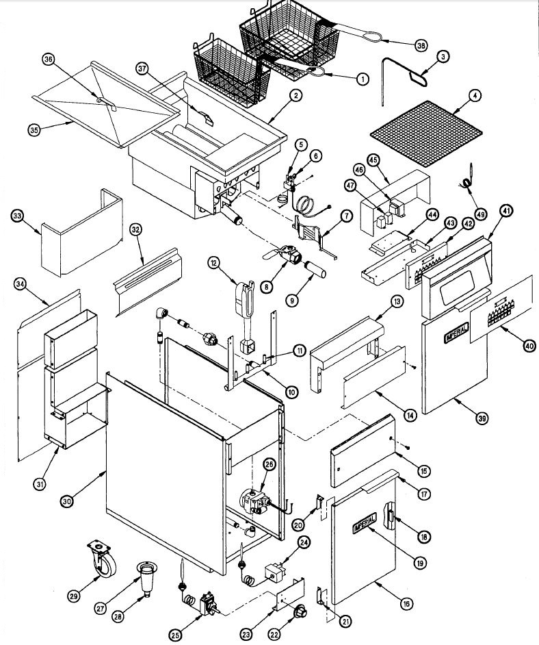 [FPWZ_2684]  Imperial IFS-40 Parts Diagram | Parts Town | Imperial Range Wiring Diagram |  | Parts Town